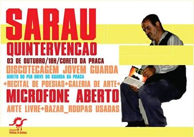 Sarau Quintervenção - 03/10