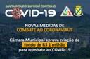 Câmara aprova R$ 1 milhão para combate ao COVID-19